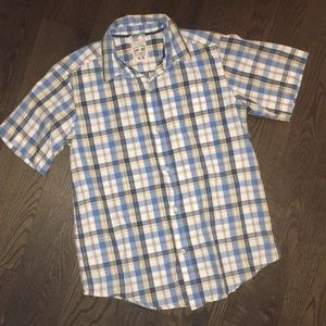 Boy's Plaid Button Down Short Sleeve Shirt